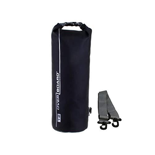 OverBoard wasserdichter Packsack 12 Liter Schwarz