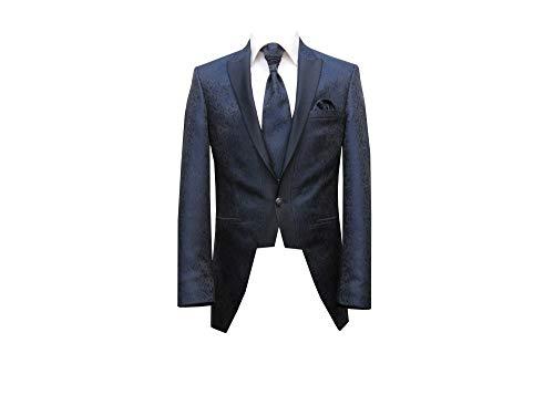 MMUGA Hochzeitsanzug Gehrock Herrenbekleidung dunkelblau 46
