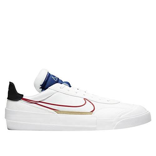 Nike Drop-Type Hbr Cq0989-100 - Zapatillas para Hombre, Blanco (Blanco/University Red-Deep Royal Blue), 40.5 EU