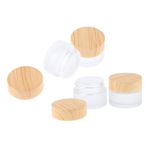 MERIGLARE Lots 4 Mini-bouteilles D'échantillon Pots De Maquillage Cosmétiques Pots De Baume Pour Les Lèvres - 5g, 15g