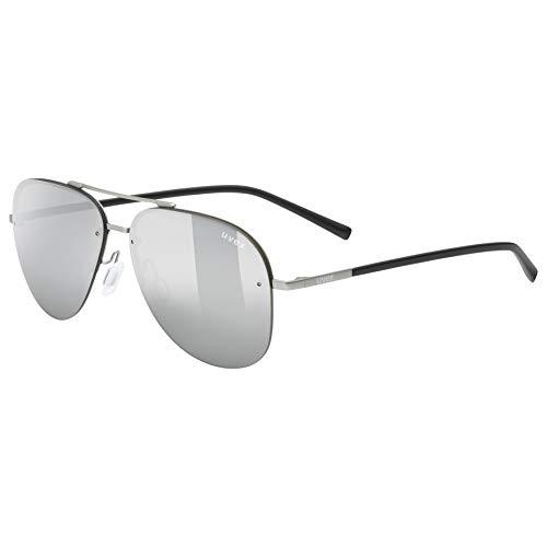uvex Unisex– Erwachsene, lgl 40 Sonnenbrille, silver mat, one size