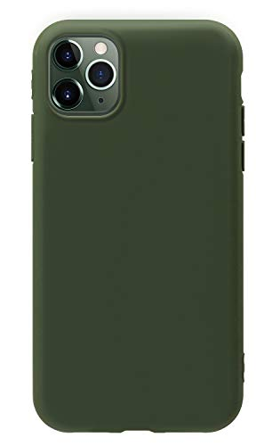 MUNDULEA iPhone 11 Pro MAX Case Green Slim Surface Layer Smooth Matte Soft Flexible TPU Cover Compatible iPhone 11 Pro MAX (Green)