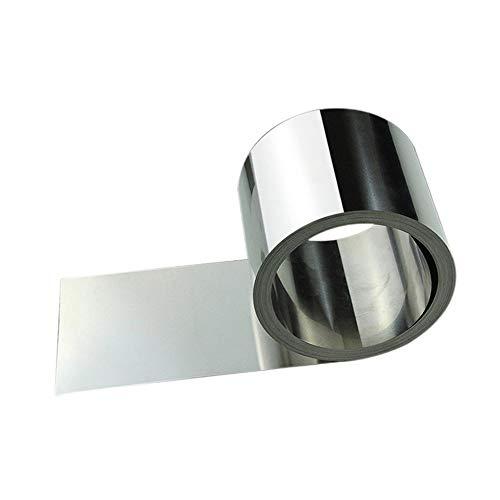 Zewoi Edelstahl-Blech Feinblech-Folie für Metallbearbeitung Schweißen Stahlband,1000mm x 100mm x 0.1mm