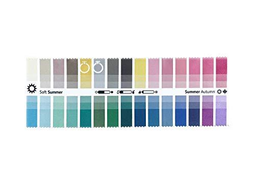 Stoff-Farbpass Sommer-Herbst (Soft Summer) mit 30 typgerechten Farben zur Farbanalyse, Farbberatung, Stilberatung