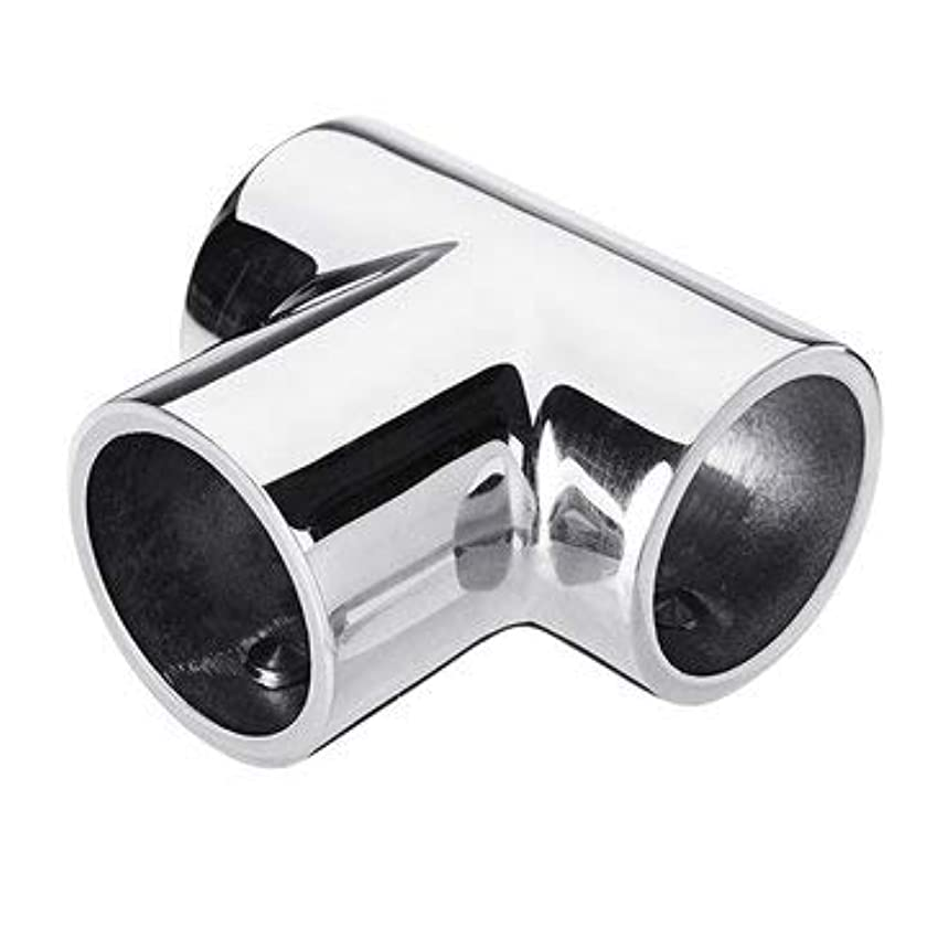 22mm 7/8 Inch 316 Stainless Steel 3 Way 90 Tee Yacht Boat Handrail Fitting - Hardware & Accessories Industrial Hardware - 1x Boat Handrail Fitting Tee