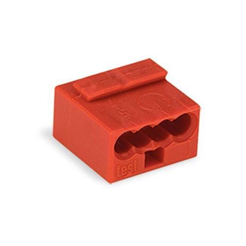 50x Wago 243-804 MICRO Verbindungsklemme - mini Wago - 4-fach - Verteilerklemme - Dosenklemme - rot