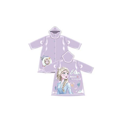 Frozen Regenjacke Poncho Kinderponcho Kinderregenjacke Regenmantel Kinderjacke Die Eiskönigin Anna Elsa Olaf Sven (6 Jahre)