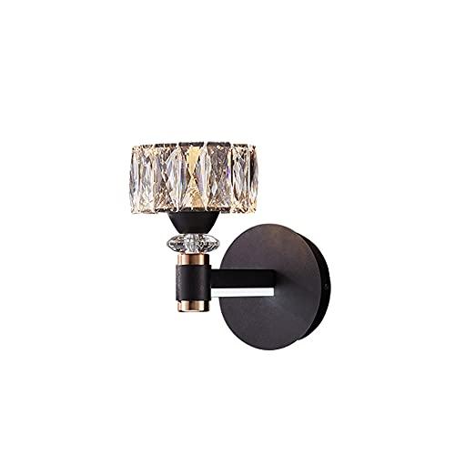 AZPINGPAN Apliques de pared de lámpara de cabecera de dormitorio variable tricolor LED, proceso de pulido de pintura para hornear Decoración del hogar de una sola cabeza Lámparas de pared de lectura m