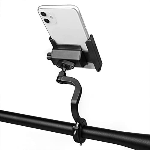 Eksesor Soporte para TeléFono MóVil para Bicicleta, Motocicleta, AleacióN De Aluminio, Soporte para TeléFono MóVil con RotacióN 360 para TeléFono Inteligente De 3.5-7.0 Pulgadas