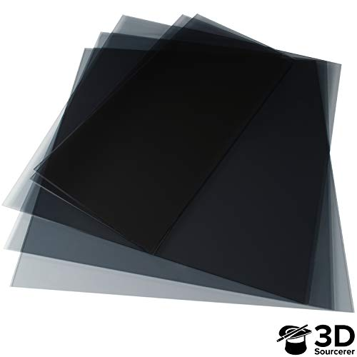 3mm Transparent Tinted Plexiglass for IKEA Lack 3D Printer Enclosure (5 Pack) | 3 Pieces of 440mm x 440mm (17.3' x 17.3') & 2 Pieces of 220mm x 440mm (8.65' x 17.3') | Laser Cut to Precision