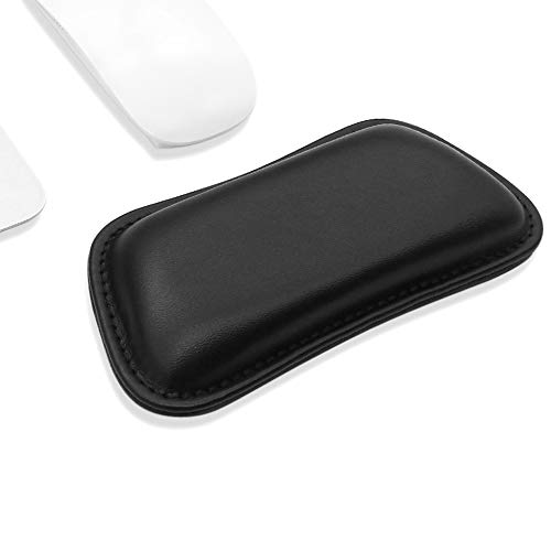 ProElife Soft Mouse Wrist Support Pad Hand Rest Cushion Waterproof PU Leather Wrist Pillow Mat Pain Relief for Home Office School Gaming Computer Laptop Mouse, 6.88 x 3.23 inch (Black)