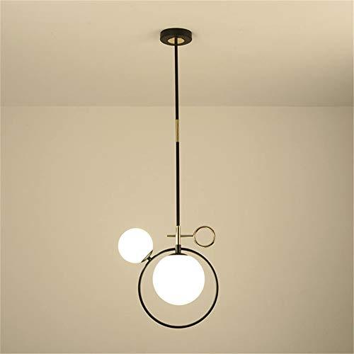 Saturnus glas in lood kogel hanglampen pijp opgehangen lamp armaturen voor keuken woonkamer slaapkamer led enkele hoofd luminaire