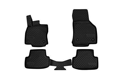 Element Tappetini in gomma antiscivolo premium 3D personalizzati SEAT Leon, 2012-2019, Typ 5F, 4 pez., Nera