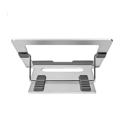Aluminum Computer Lift Stand Folded Aluminum Laptop Notebook Cooling Stand Bracket,Silver