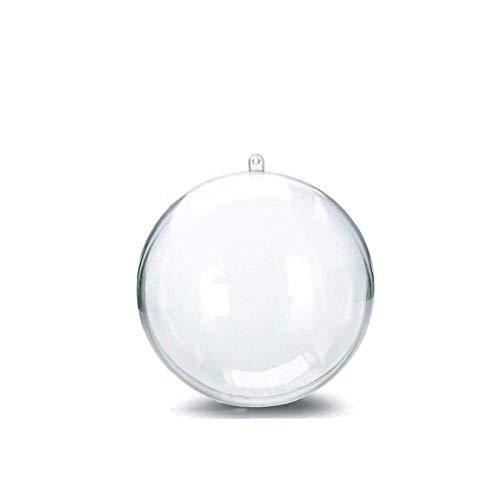 TOPofly 7 cm Transparent Balls Arbre Décoration de Noël, 10pcs Plastique rempli Balle Décorations de Noël Boule de Noël Ornement de fête d'anniversaire Décorations