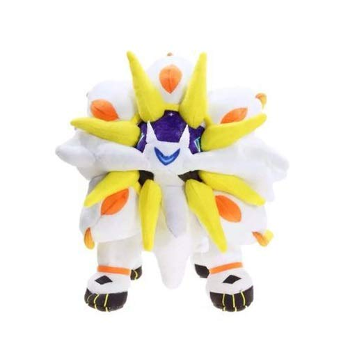 DMCMX Pokémon Stofftier Solgaleo Figur Puppe Anime Game Character Modell statischen Charakter Desktop-Dekoration 30cm Nacht Computer Case Dekoration Exquisite Souvenirs (Color : Weiß)
