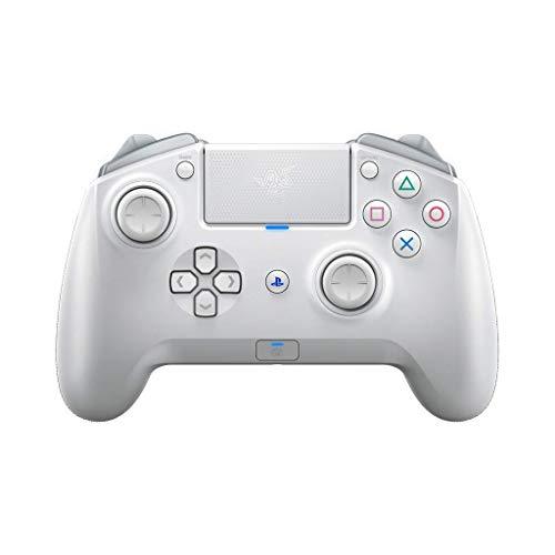 Razer Raiju Tournament Edition Mercury (2019) - Wireless and Wired Gaming Controller für PS4 + PC (Kabelgebundener und Kabelloser Bluetooth Controller, Mecha-Tactile-Aktionstasten) Weiß
