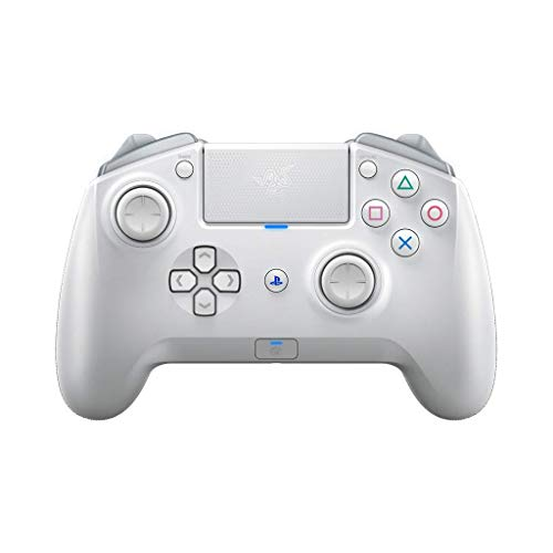 Razer Raiju Tournament Edition Mercury (2019) - Wireless and Wired Gaming Controller für PS4 + PC (Kabelgebundener und Kabelloser Bluetooth Controller, Mecha-Tactile-Aktionstasten) Weiß
