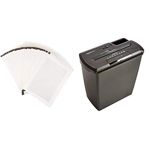 AmazonBasics - Hojas para lubricar y afilar trituradoras - Pack de 24 + Destructora...