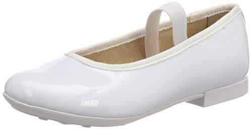 Geox Mädchen JR PLIE' D Geschlossene Ballerinas, Weiß (White C1000), 35 EU