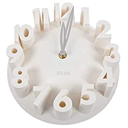 N /A Wall Clock Home Decor Creative Modern Art 3D Number Dome Round Wall Clocks, White 22.5 22.5 9Cm