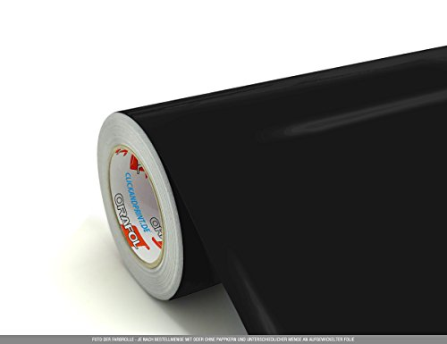 CLICKANDPRINT 3m Klebefolie, 50cm breit, Schwarz PR » Klebefolie/Stickerfolie/Selbstklebefolie