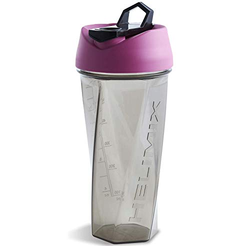 Helimix Vortex Blender Shaker Bottle 28oz | No Blending Ball or Whisk | USA Made | Portable Pre Workout Whey Protein Drink Shaker Cup | Mixes Cocktails Smoothies Shakes | Dishwasher Safe