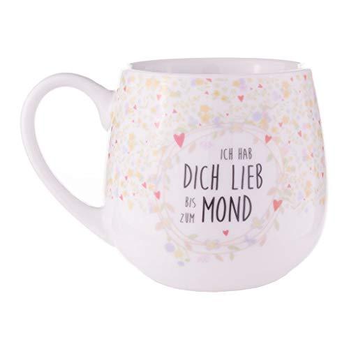 Könitz Tasse - Kuschelbecher - Ich hab dich lieb bis zum Mond