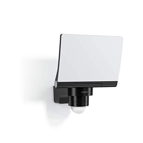 Steinel LED Strahler XLED PRO 240 schwarz, LED Flutlicht mit 240° Bewegungsmelder, 12 m Reichweite, inkl. Eckwandhalter