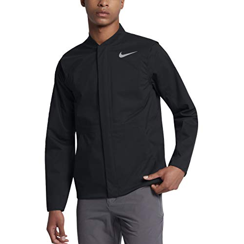 Nike HyperShield HyperAdapt Golf Jacket 2017 Black/Flat Silver Medium