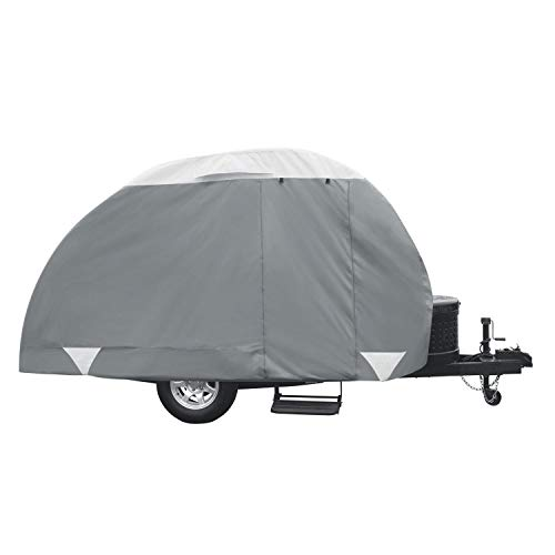 Classic Accessories Over Drive PolyPRO3 Deluxe Teardrop Trailer Cover, Fits 10' - 12' Tab...