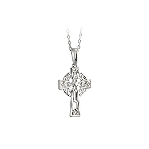 Biddy Murphy Childrens Celtic Cross Necklace Sterling Silver Double Sided Made in Ireland
