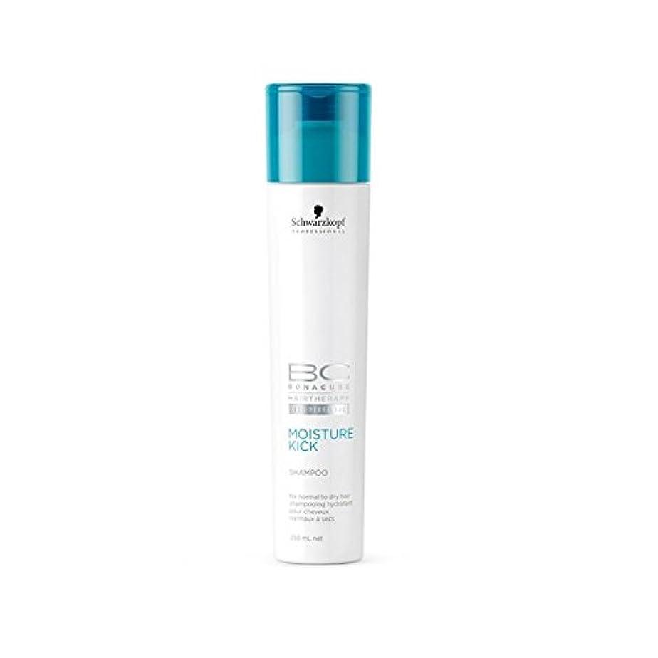 掻く縁のぞき見シュワルツコフ 水分キックシャンプー(250ミリリットル) x4 - Schwarzkopf Bc Hairtherapy Moisture Kick Shampoo (250ml) (Pack of 4) [並行輸入品]