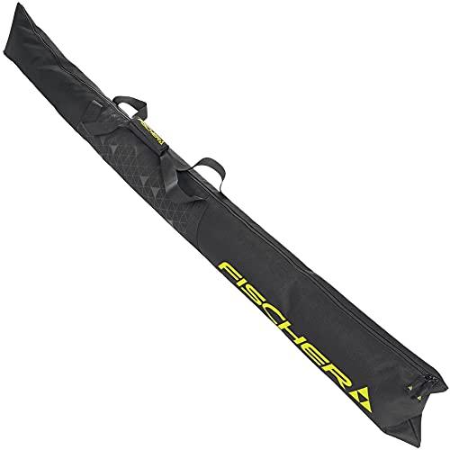 FISCHER Unisex-Erwachsene Eco Alpine Skitasche, schwarz-gelb, 160cm