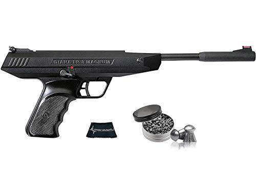 RWS Model Lp8 Magnum .177 Caliber Break Barrel Air Pistol with Included Pack of 500 Pellets Bundle (Pellets Caliber/Weight .177/7.48 Grains) and Wearable4U Cloth