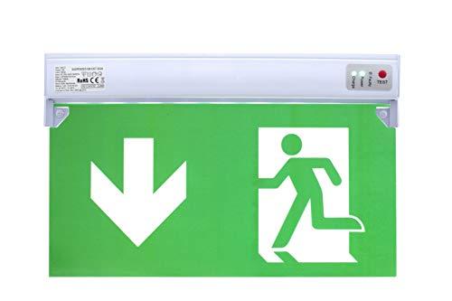 Dauerlicht LED Notleuchte Notbeleuchtung Exit Notausgang Fluchtwegleuchte Notlicht Fluchtweg EXIT IP20 oder IP65 (Dauerlicht IP20)