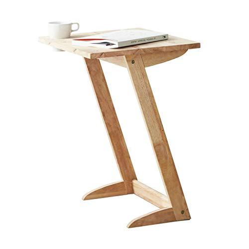 Tables basses en Forme de Z Simple Table d'appoint canapé créatif Table d'appoint/étagère (Color : Beige, Size : 50 * 40 * 61cm)