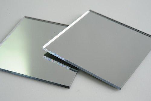 MIRROR ACRYLIC PLEXIGLASS SHEET 1/4' (0.220) x 36' X 24' CUSTOM CUT TO SIZE