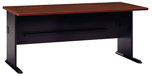 Bush Business Furniture Series A 72W Desk in Hansen Cherry and Galaxy