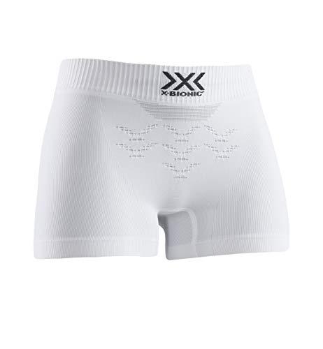 X-Bionic Energizer 4.0 Light Women Boxer Shorts Femme, Arctic White/Dolomite Grey, FR : S (Taille Fabricant : S)