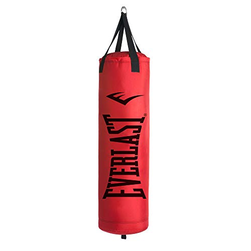 Everlast 80LB Heavy Bag Heavy Punching Bags, Red/Black,