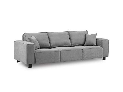 Kooko Home Sofa, modern, 3-Sitzer, Grau, 245 x 90 x 82 cm