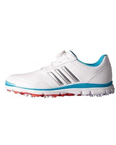 adidas adidas , Damen Golfschuhe 40 Weiß/Silberfarben/Blau