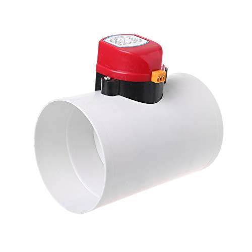 smallJUN 220V Kunststoff-Rückschlagventil für elektrische Dämpfer 110 mm Luftvolumenregelventile für Lüftungsrohr 220 V elektrisches Luftventil weiß