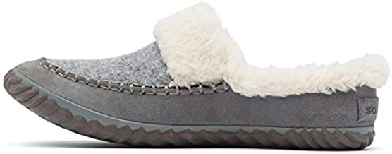 Sorel - Women's Out 'N About Slide Slipper with Faux Fur Lining, Quarry, 6 M US
