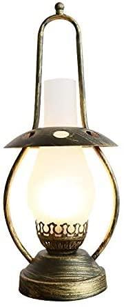 7.1x18.1 pulgadas de la lámpara de mesa de la vendimia, lámpara de noche de la habitación del dormitorio de estudio, decorativo creativo estilo chino retro nostalgia lámpara de escritorio de lámpara d