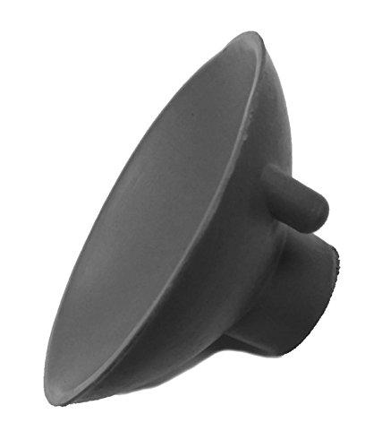 Herco 3' Diameter Heavy Duty Neoprene Female-Threaded Suction Cup - Grey