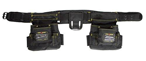 MagnoGrip 002-603 19-Pocket Magnetic Builder s Tool Belt, Black