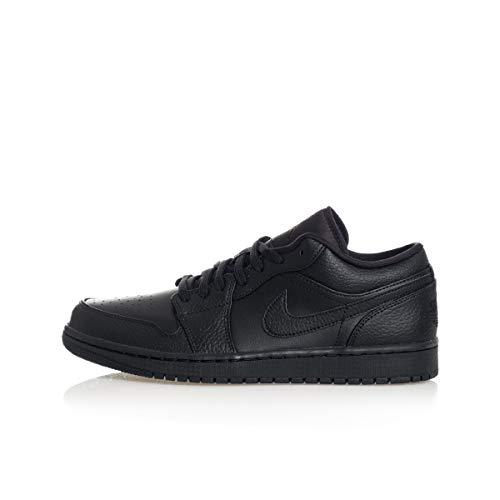Nike Herren Air Jordan 1 Low Basketballschuh, Schwarz, 42 EU