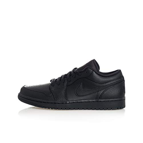 Nike Air Jordan 1 Low, Scarpe da Basket Uomo, Black/Black-Black, 44 EU